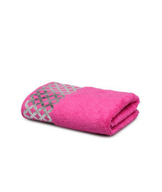 Mia Foil Printed Prim Rose Towel 2 Pc Set
