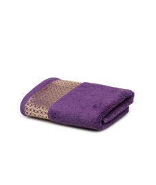 Mia Foil Printed Royal Grape Towel 2 Pc Set