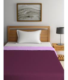 Blockbuster Sweet Lilac & Rose Wine Comforter Single Size