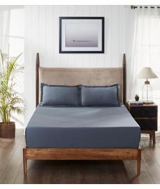 Percale Slate Bedsheet King Size