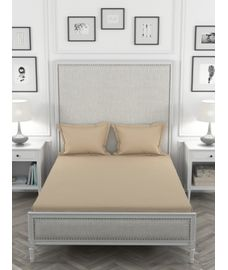 Just Us Classic Intimate Gold Bedsheet Super King Size