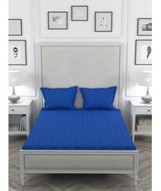 Just Us Premium Diva Blue Bedsheet Super King Size