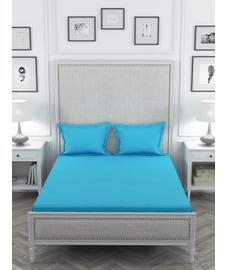 Colors Ocean Blue Bedsheet Super King Size