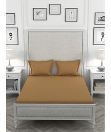 Colors Dust Brown Bedsheet Super King Size