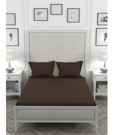 Colors Chocolate Bedsheet Super King Size