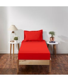 Percale Red Clay Bedsheet Single Size