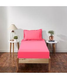 Percale Paradise Pink Bedsheet Single Size