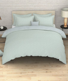 Portico New York Melange Collection - Diamond Pattern King Size Comforter (100% Cotton, Reversible)