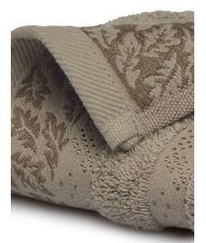 Ariana Jacquard Bark Brown Hand Towel