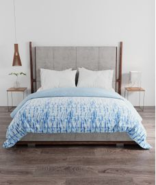 Portico New York Facets Collection - Abstract Shibori King Size Comforter (100% Cotton, Reversible)