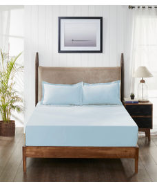 Supercale Light Blue Bedsheet Super King Size