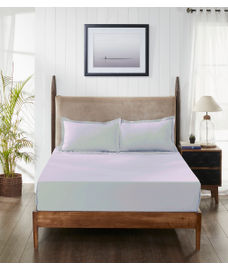 Supercale Lilac Bedsheet Super King Size