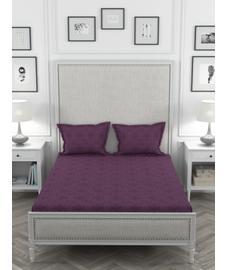 Just Us Premium Deep Plum Bedsheet Super King Size