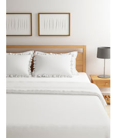 Just Us Luxury Pristine White Duvet Cover King Size