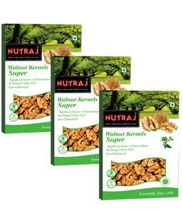 Nutraj - Super Walnut Kernels - 250G (Pack Of 3)