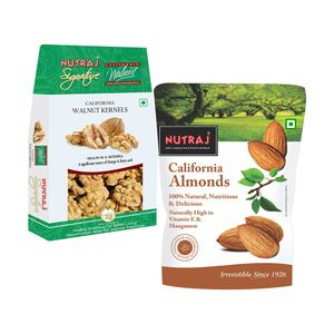 Nutraj Super Saver Pack 700gm (California walnut kernels + California almonds)
