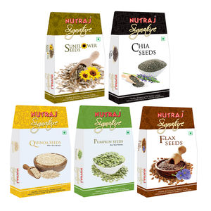 Nutraj Super Saver Pack 500g (Chia seeds+sunflower Seeds+Flax SeedsPumpkin Seeds+Quinoa Seeds)