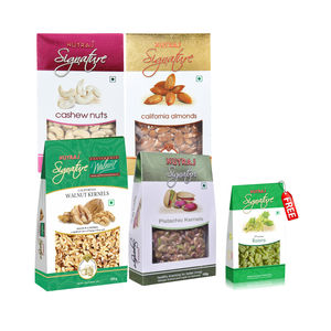 Nutraj Super Saver Pack 900g (Walnuts, Almonds, Cashews, Pista) - Raisins Free