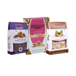 Nutraj Super Saver Pack 450g (Walnuts+Pecans+Hazlenuts)