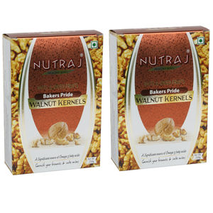 Nutraj Bakers Pride Walnut Kernels 250 Gms (Pack of 2) - Vacuum Pack