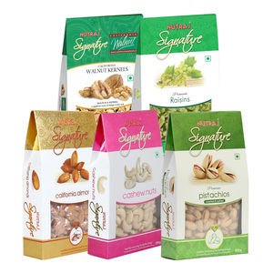 Nutraj Signature Daily Needs Pack of 5 (Almonds, Walnuts, Pista, Cashews, Raisins)