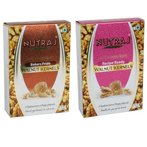 Nutraj Recipe Ready & Bakers Pride Walnut Kernels - 250 Gms (Pack of 2) - Vacuum Pack