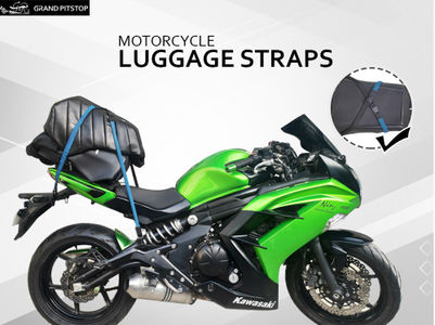 Grandpitstop Motorbike Luggage Straps (Bungee Cord) (Set of 2)