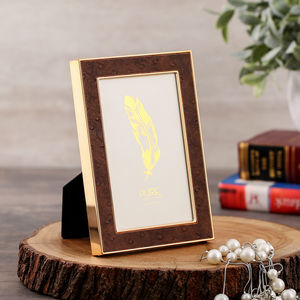 Rose Gold And Brown Tabletop Frame