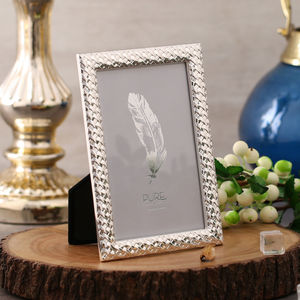 Shiny Silver Plated Alloy Frame