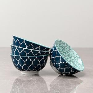 Set of 4 Dark Blue Bowls