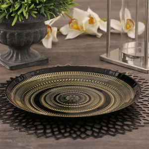 Black and Gold Arte Dinner Plate