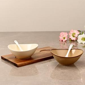 Set of 2: Multicolour Ceramic Appetizer Bowls
