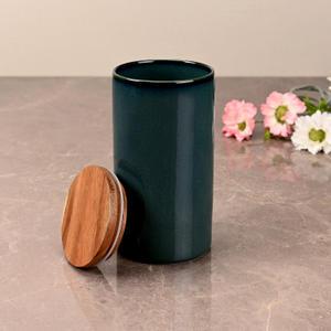 Large Teal Green Ceramic Storage Jar