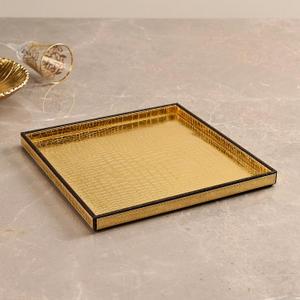 Large Golden & Brown Croco Platter