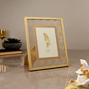 Small Golden Moroccan Motif Photo Frame
