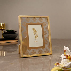 Large Golden Moroccan Motif Photo Frame