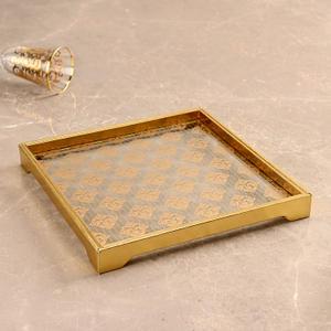 Golden Moroccan Motifs Platter