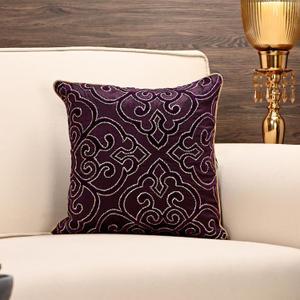 Purple Applique Cushion Cover