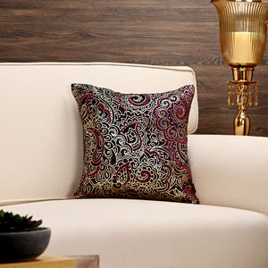 Purple Foil Printed Classic Cushion Cover