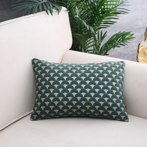 Green & Gold Sunrise Cushion Cover