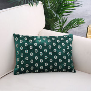 Green & Gold Emerald Cushion Cover