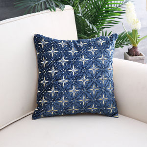 Blue & Gold Wishing Star Cushion Cover
