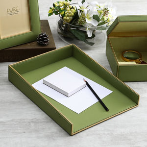 Two-Toned Green A4 Letter Tray