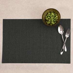 Black Chevron Weave Placemat