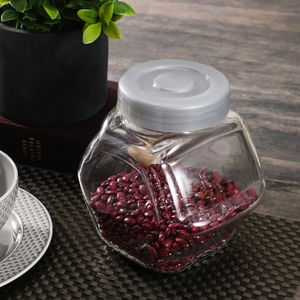 Hexagon Clear Storage Jar