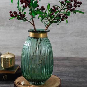 Large Olive Spring Flower Vase