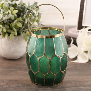 Green Honeycomb Lantern