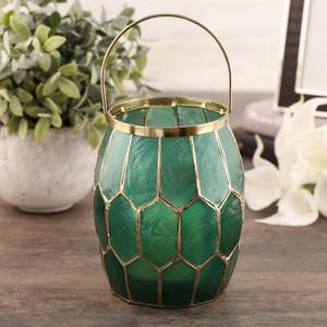 Green Honeycomb Lantern