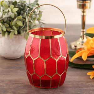 Red Honeycomb Lantern