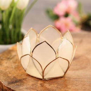 12 Petals Golden Tea-Light Holder